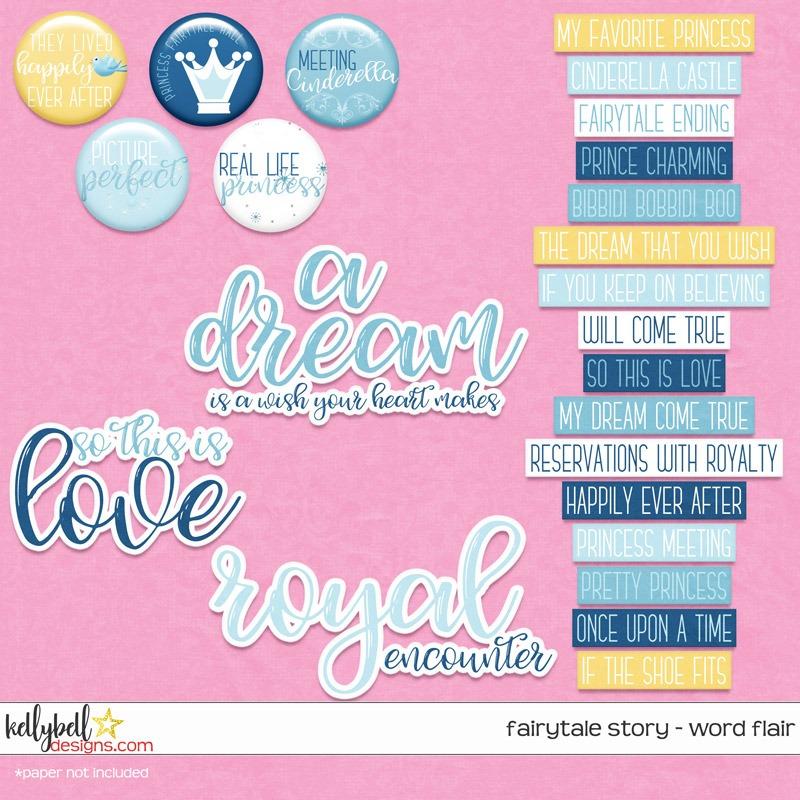 Fairytale Story Word Flair